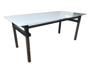 Room & Board Repurposed Bed Frame Table