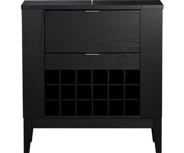 Crate & Barrel Parker Spirits Ebony Cabinet