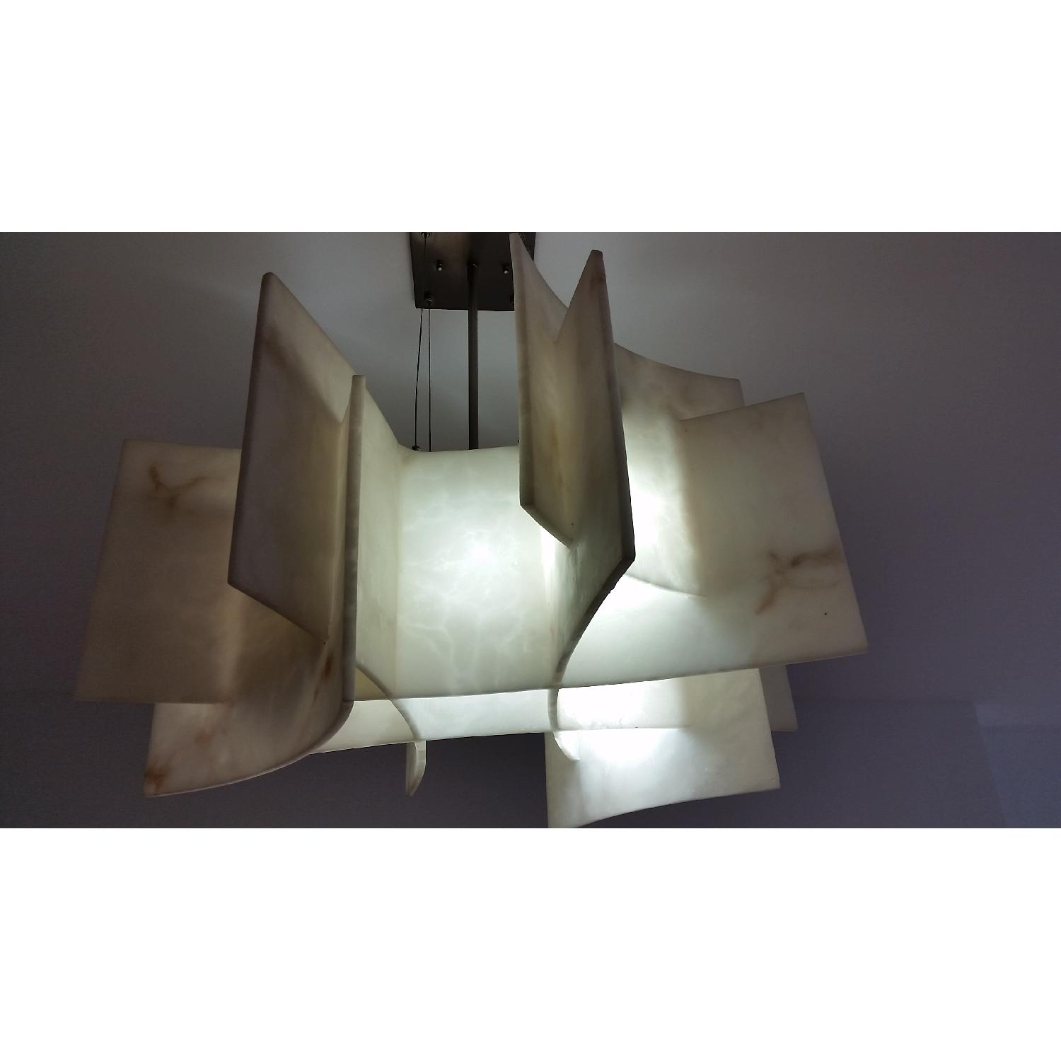 George Kovacs Lighting Five Light Chandelier in Brushed AptDeco