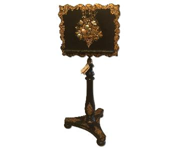 Victorian Music Stand w/ Mother of Pearl Inlay