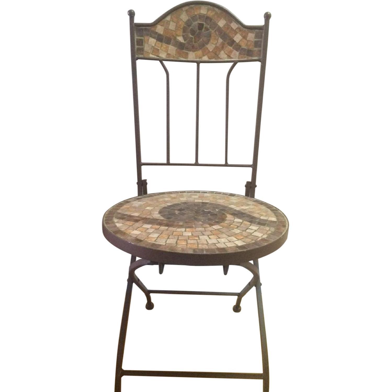 Brown Multi Color Mosaic Accent Desk Chair Aptdeco