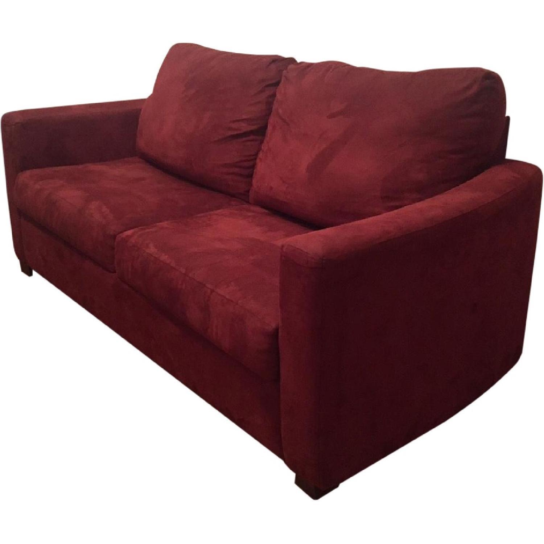Jennifer Convertible Sleeper Sofa In Red Aptdeco