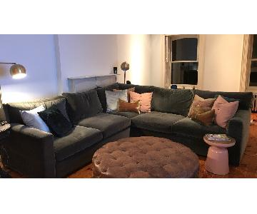 Crate & Barrel Axis II 3-Piece Sectional Couch