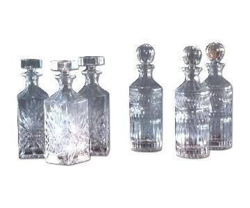 Godinger Crystal Decanters - Set of 6