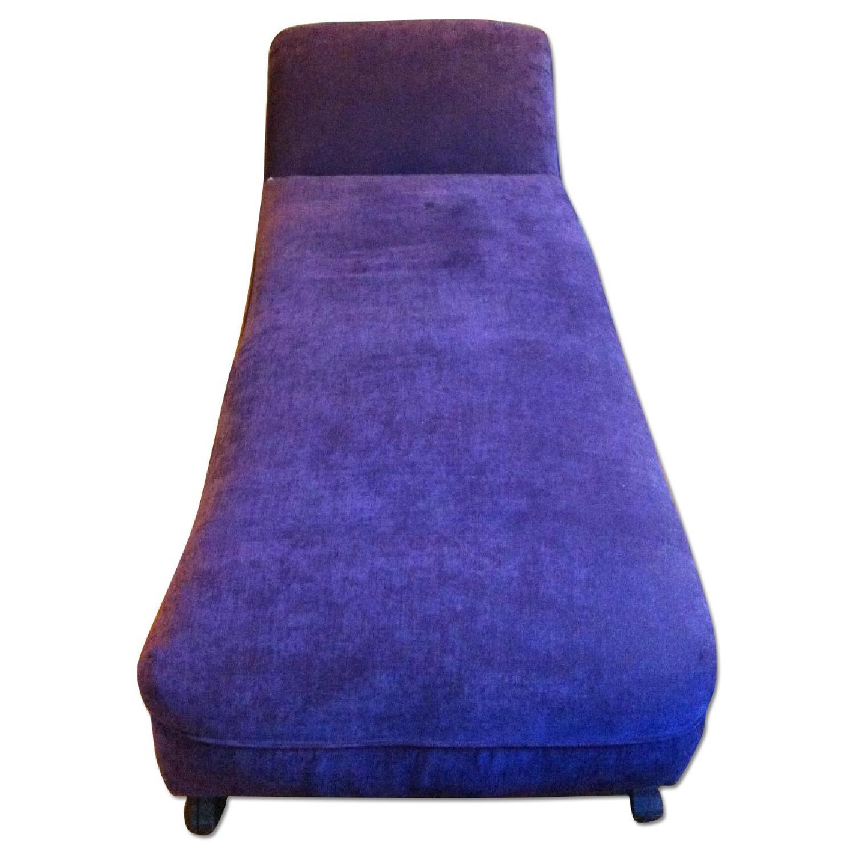 Purple Velvet Chaise Lounge Aptdeco
