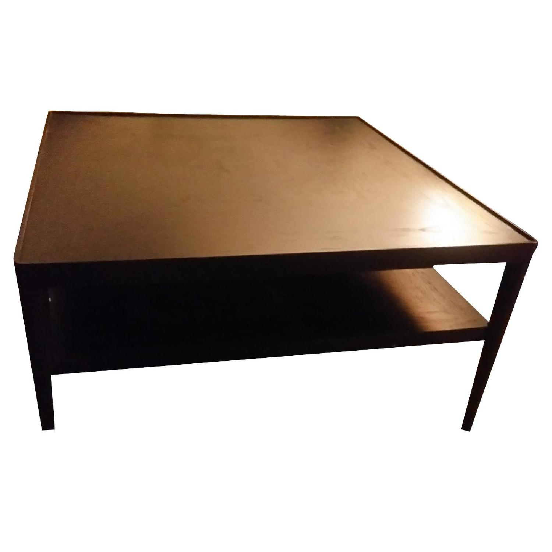 Ikea Stockholm Square Dark Brown Black Coffee Table Aptdeco