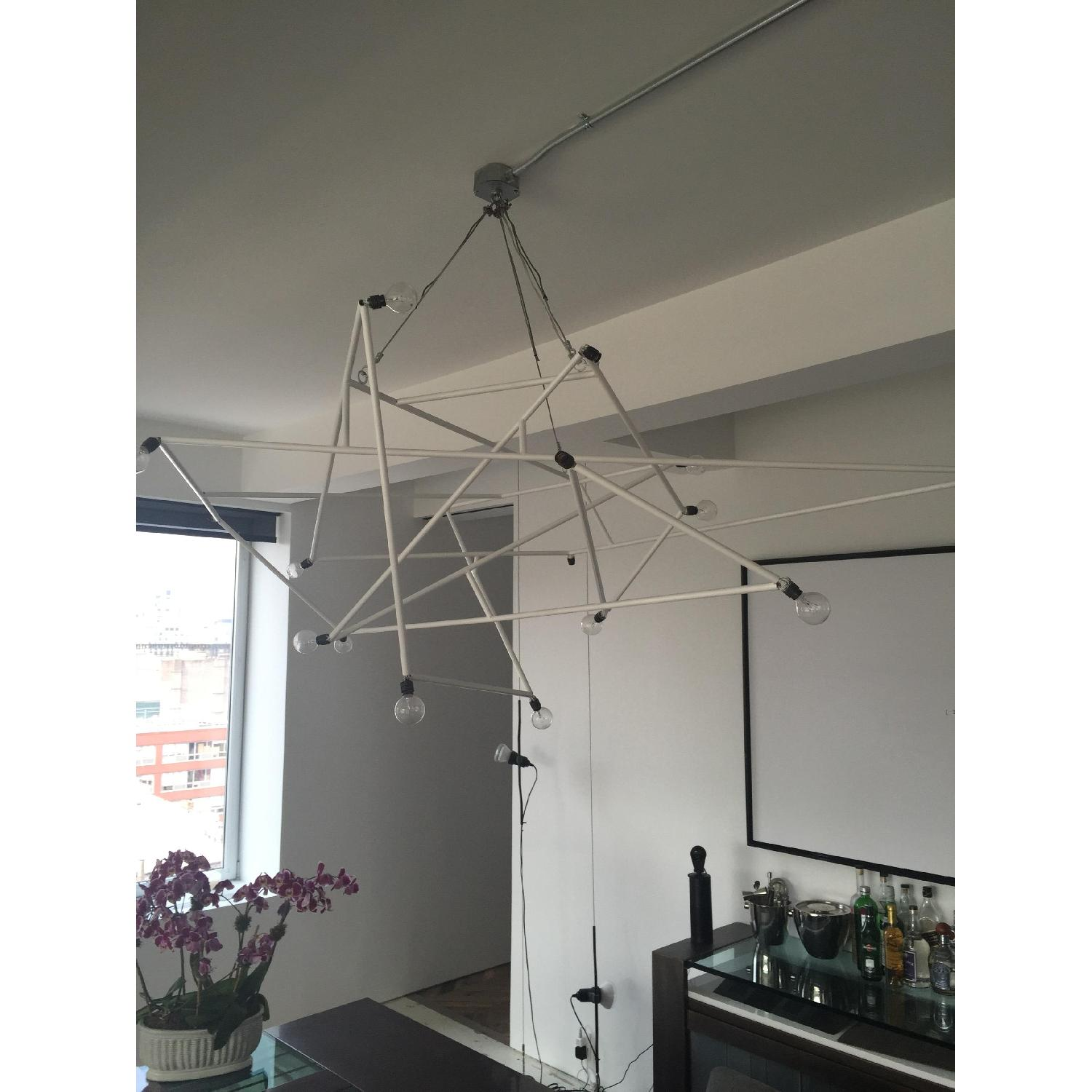 ABC Carpet & Home Powder Coated White Architectural Chandelier - image-1