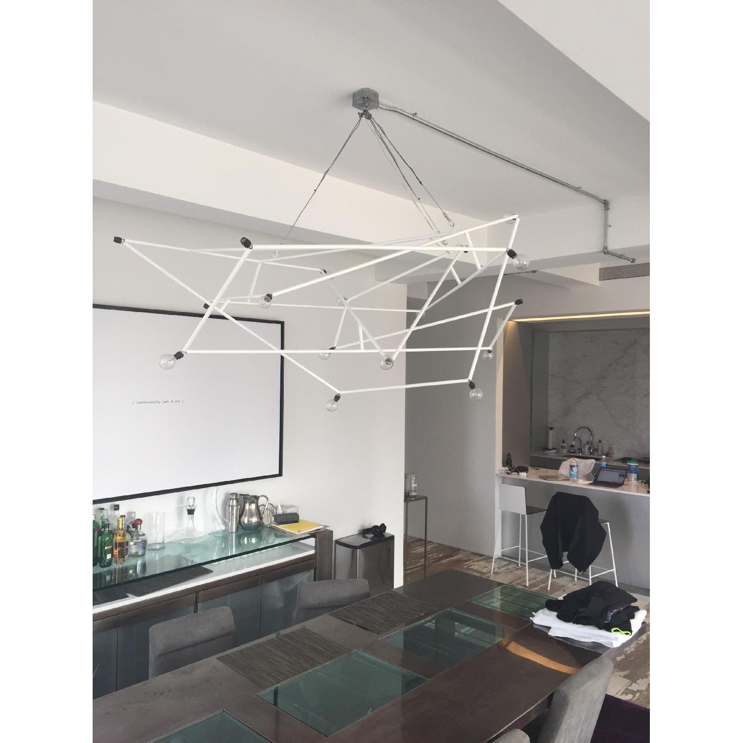 ABC Carpet & Home Powder Coated White Architectural Chandelier - image-3