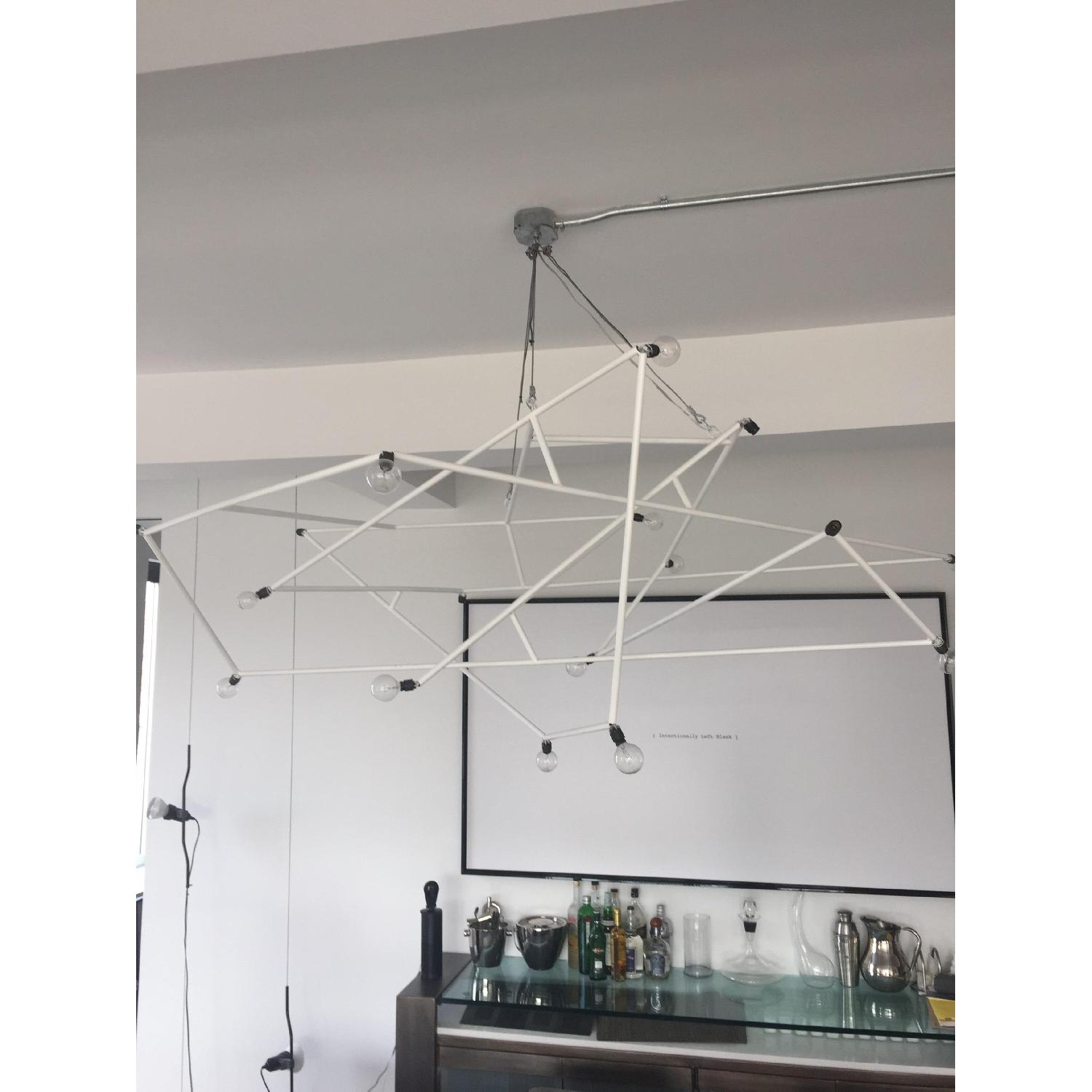 ABC Carpet & Home Powder Coated White Architectural Chandelier - image-4
