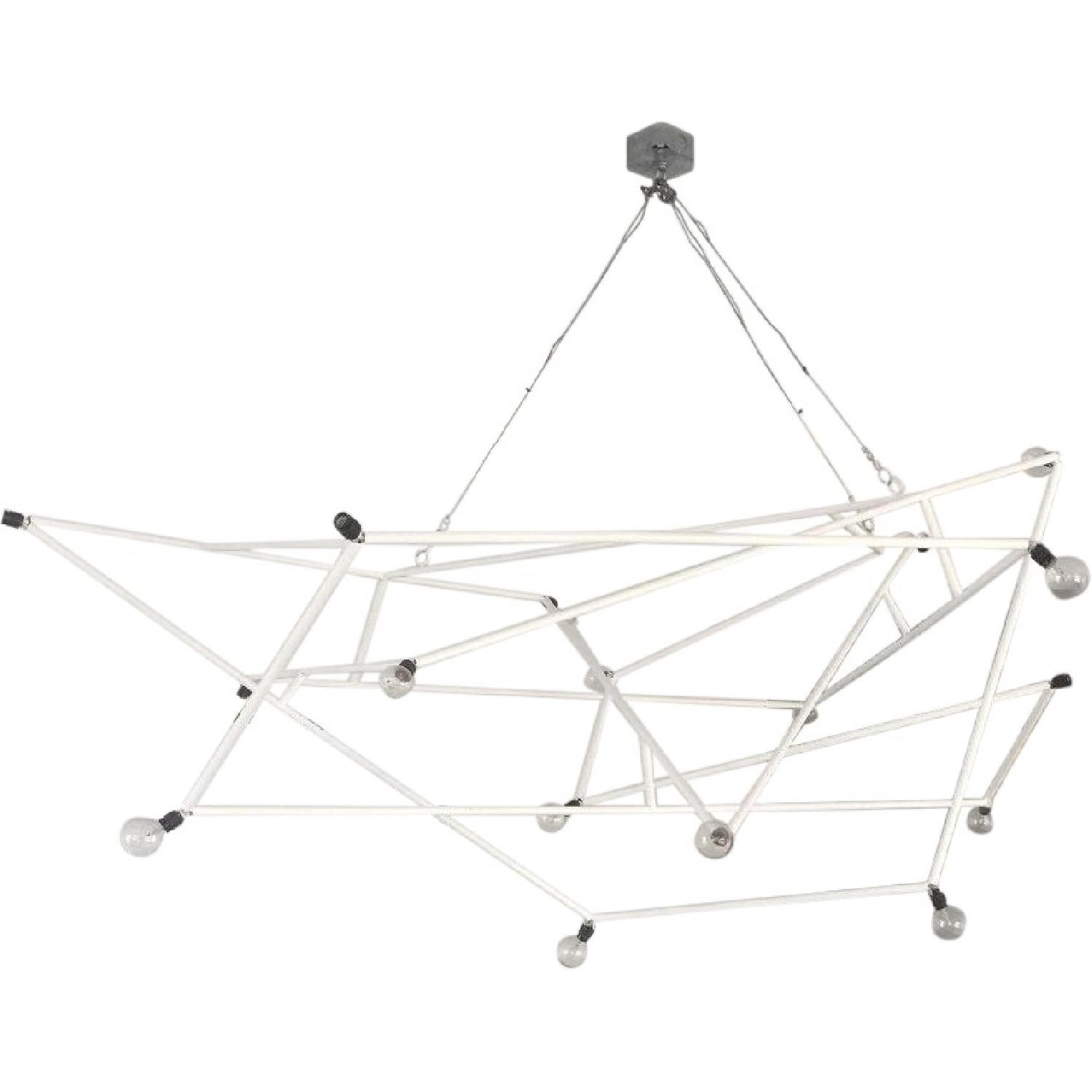 ABC Carpet & Home Powder Coated White Architectural Chandelier - image-0