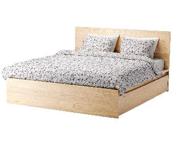 Ikea Malm Queen Storage Bed in Sand