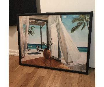 All Posters Beach Cabana Framed Print