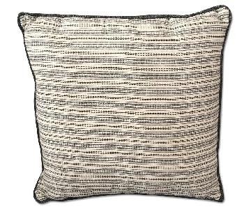Gray Striped Accent Pillows