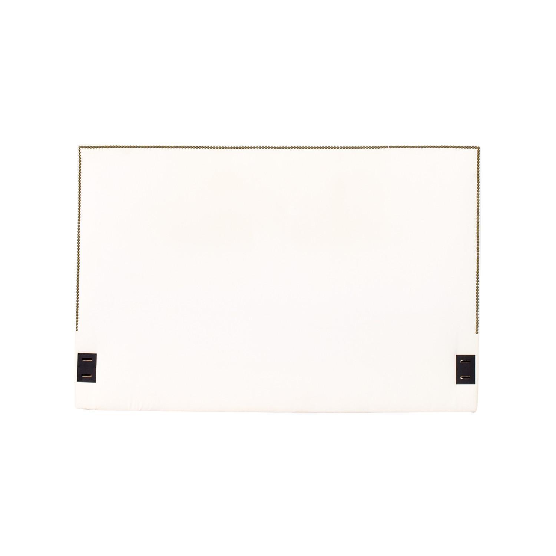 West Elm Walnut Bed Frame w/ Nailhead Headboard