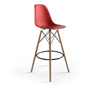 Eames Style Red Bar Stools