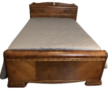 Claire Riby Art Deco Style Full Size Bed Frame