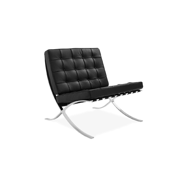 Barcelona Style Chair & Ottoman Replica