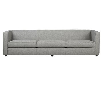 CB2 Club 3 Seater Sofa & Ottoman