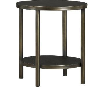 Crate & Barrel Echelon Round Side Table