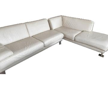 Maurice Villency Furniture Leather Sectional Sofa