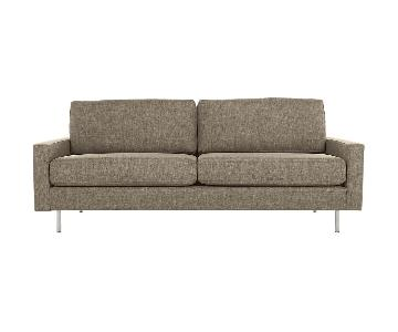 CB2 Central Salt & Pepper Sofa