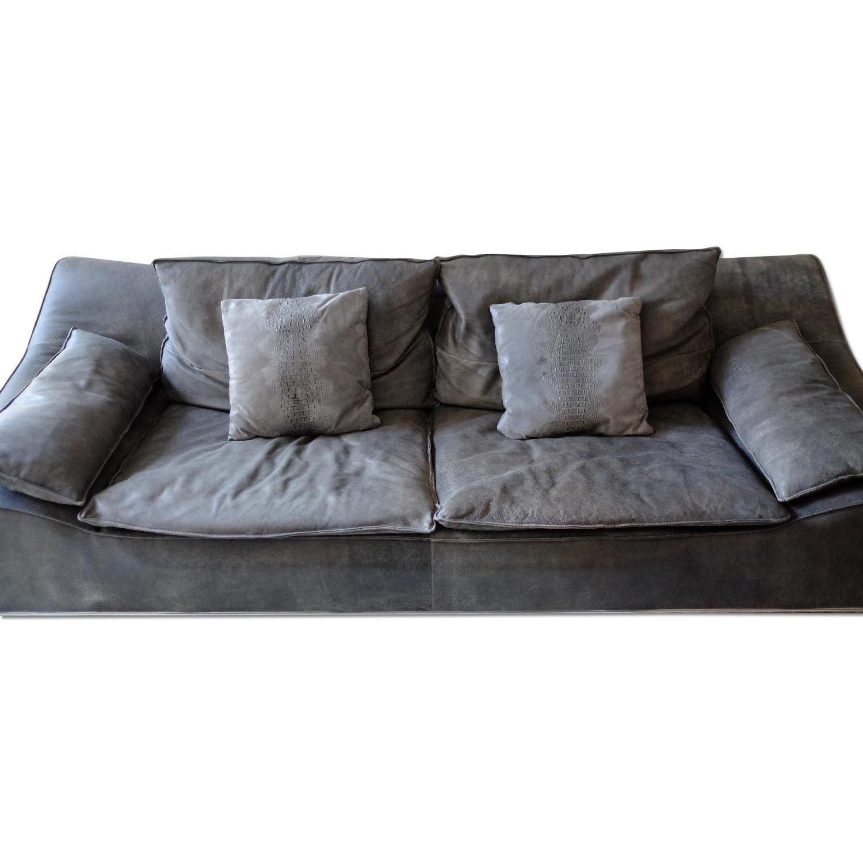 Incanto Italia Grey Leather Sofa