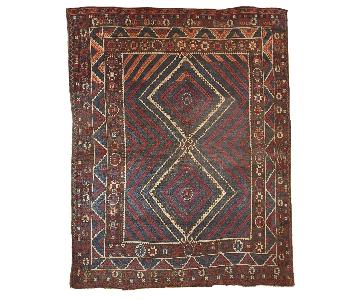 Antique 1880s Turkish Bergama Rug