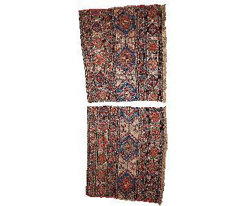 Antique 1900s Caucasian Sumak Rugs