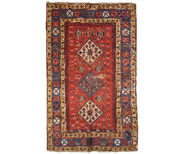 Antique 1860s Caucasian Kazak Rug
