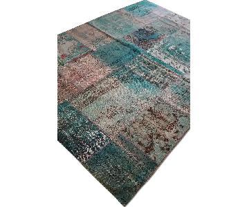 ABC Carpet & Home Aqua Patch Rug