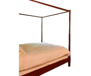Hand Made California King Wood Canopy Bed