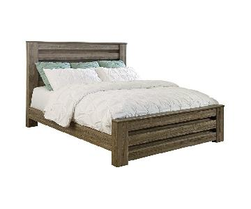 Ashley's Gray Queen Size Bed Frame