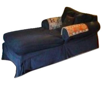 Pottery Barn Blue Slipcovered Chaise
