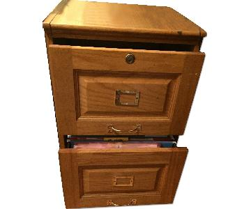Classic Style Solid Oak Filing Cabinet