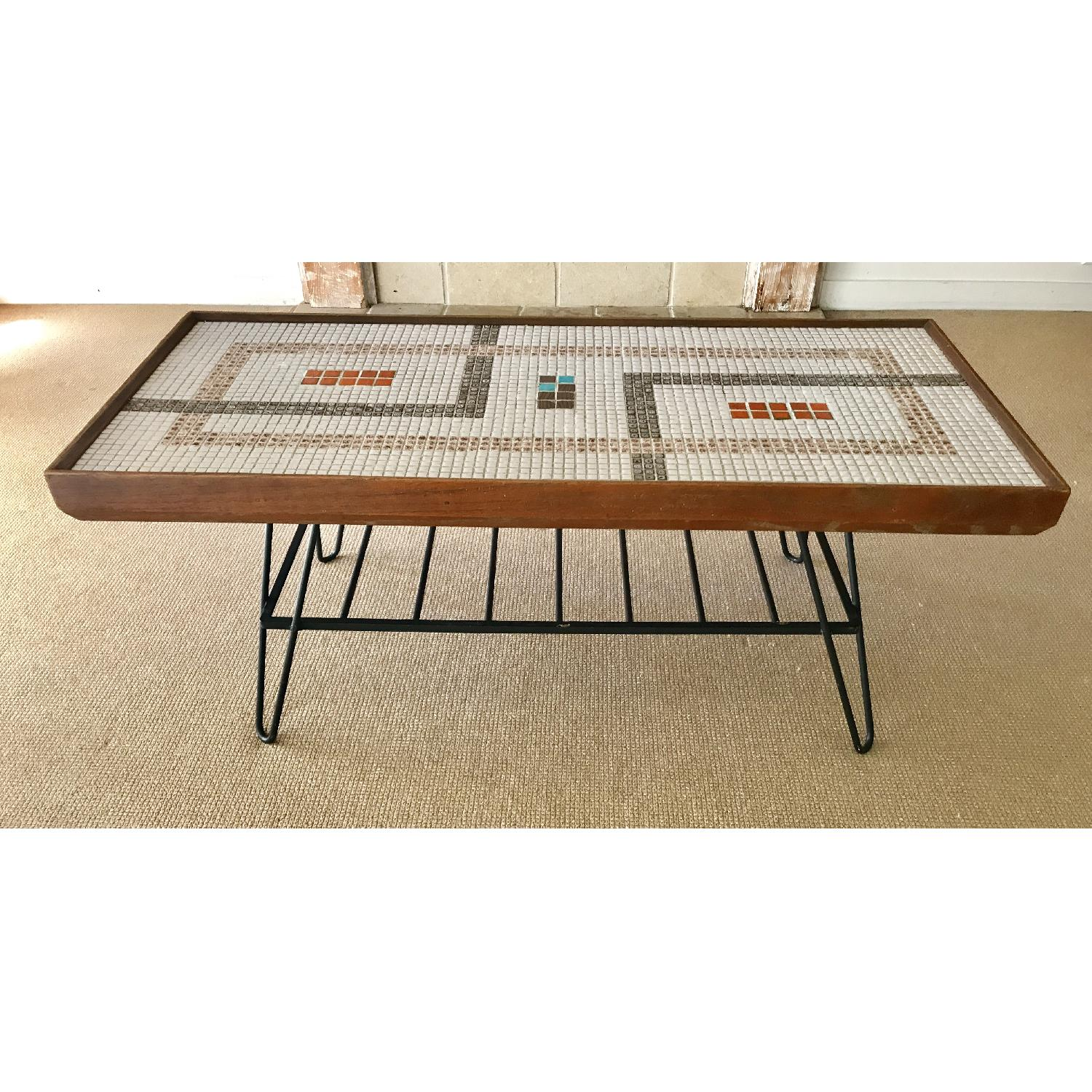 Mid century 50s coffee table w mosaic tile aptdeco mid century 50s coffee table w mosaic tile 0 geotapseo Image collections