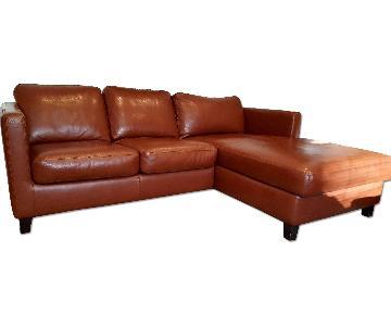 W. Schillig USA Italian Leather Sectional Sofa