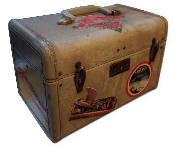 Vintage Samsonite Leather Travel Suitcase