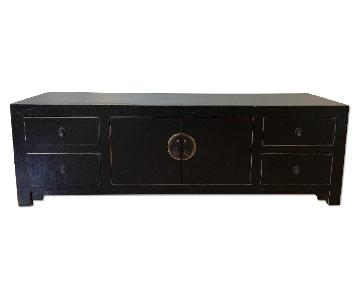Black Lacquer Chinese Credenza