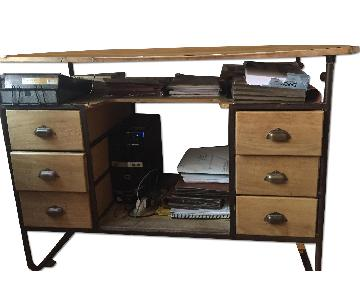 Vintage Architect's Desk w/ Slant or Flat
