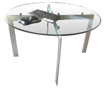 Design Within Reach Glass Top Round Dining Table