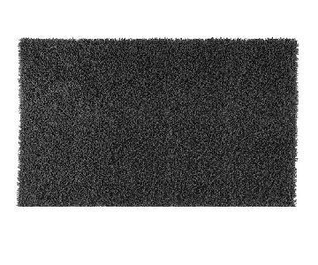 Design Within Reach Nesta Black Handmade Undyed Wool Shag Ru