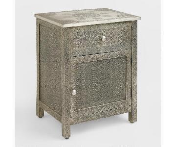 Kiran Embossed Metal Cabinet