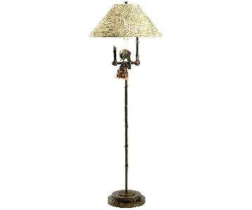 Frederick Cooper Polly by Night II Dark Brown Floor Lamp