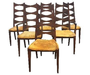 Mid-Century Cat's Eye Dining Chairs