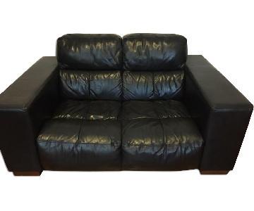 Black Leather Loveseat