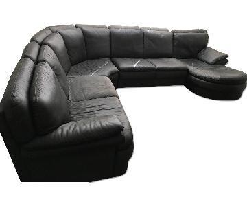 Bloomingdale's 4 Piece Italian Leather Sectional Sofa
