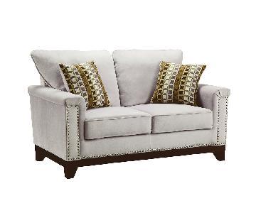 Coaster Fine Furniture Grey Velvet Loveseat