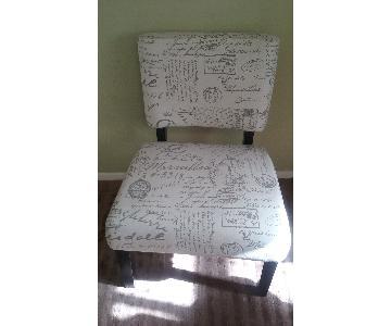 TJ Maxx French Script Beige Chair