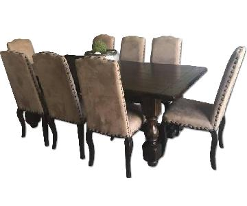 Pottery Barn Dining Table w/ 10 Chairs