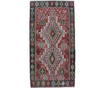 Vintage Turkish Hand Woven Kilim Rug
